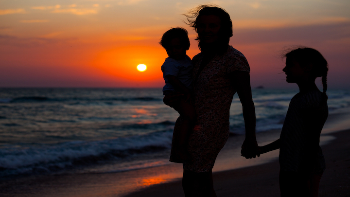 Sunset family tropical Long Island Whitsundays